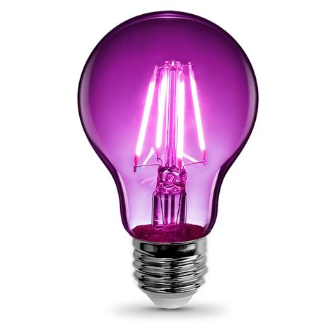 feit electric 3 6 watt purple a19 filament led light bulb