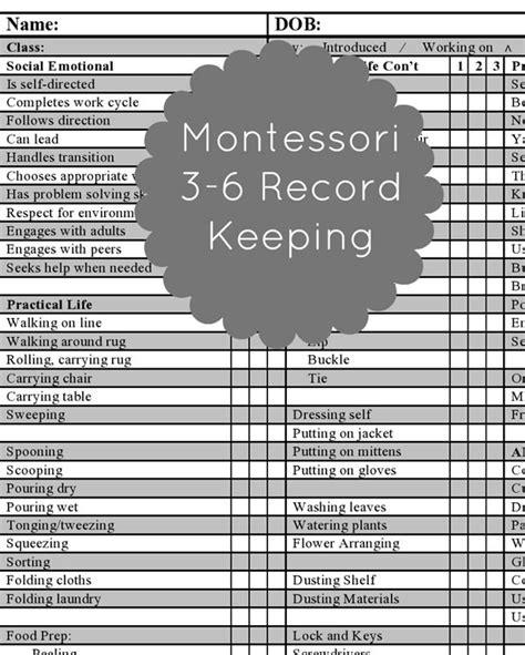 Trillium Montessori Ue Progress Report Template 30 Best Montessori Record Keeping Images On