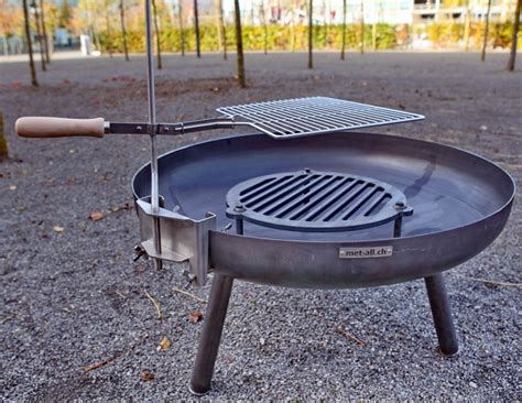 grill feuerschale edelstahl metall werk z 252 rich ag schwenkgrill aus edelstahl f 252 r