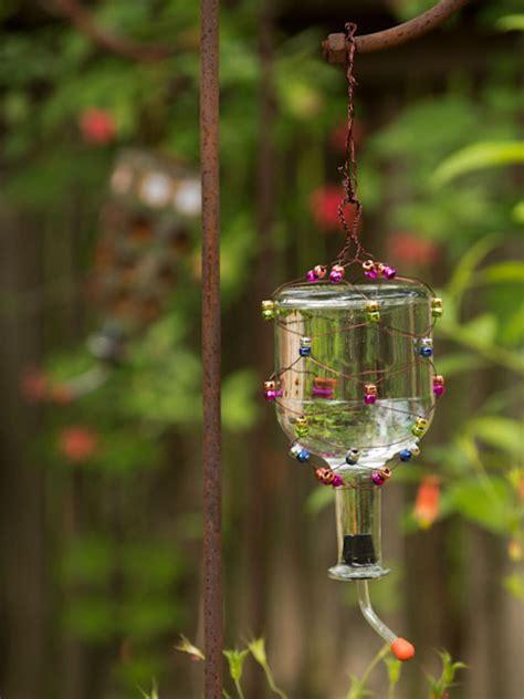 upcycle  tequila bottle   hummingbird feeder