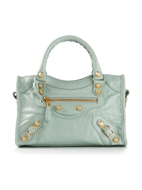 Guess Who The Balenciaga City Bag by Lyst Balenciaga Mini City Shoulder Bag In Green