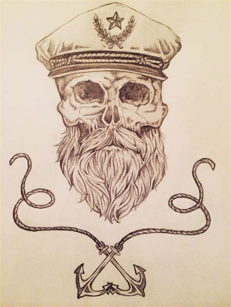 bearded skull tattoo so awesome would make a great tatt lover