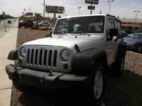 2008 Jeep Wrangler Owners Manual Purchase Used 2008 Jeep Wrangler 2 Door Silver V6 Manual