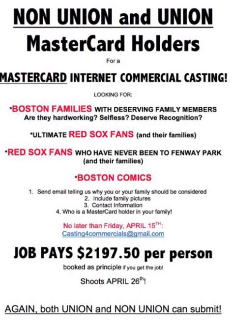 master card commercial 2000 mastercard commercial call for lead roles