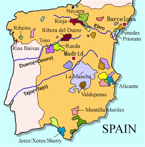 Spain Wine Map by Schiller Wine The Wines Of Bodegas Epifanio Rivera In Spain