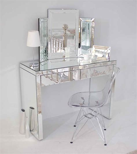Glass Vanity Table With Mirror Mirror Design Ideas Aphrodite Veentian Mirrored Dressing Tables Drawers Furniture Modern