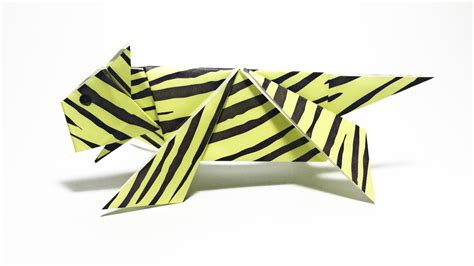 3d origami tiger tutorial tiger origami tutorial animals origami youtube