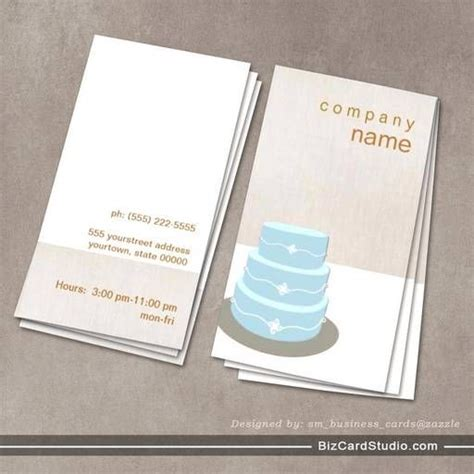 Cake Design Business Card Template by 34 Best Images About Bakery Business Cards On