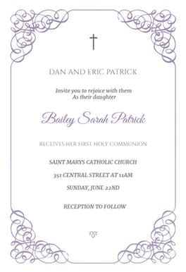 free printable confirmation card templates receiving holy communion free communion invitation