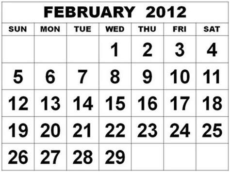 February 2012 Calendar Nevenkitis February 2012 Calendar
