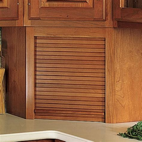 tambour kitchen cabinet doors hardwood appliance garage with tambour door kit hardwood