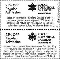Botanical Gardens Coupon Attraction Coupons 2013 2014 On Times Hockey And Cruises