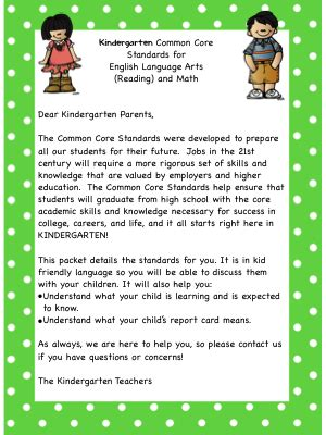 Parent Letter To Kindergarten 2 Scoops Of Kindergarten Common Letter To Parents Freebie Kindergartenklub