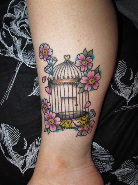 small bird cage tattoo birdcage tattoos ink tattoos
