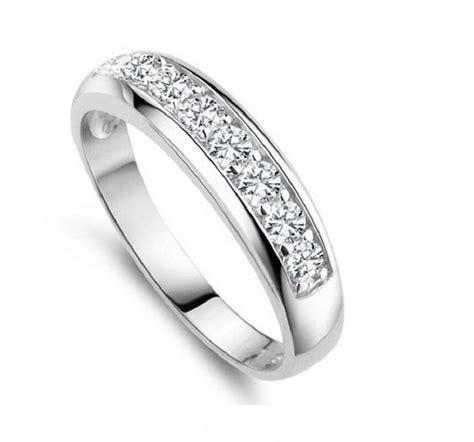 cheap wedding rings for women silver plated round cz ring