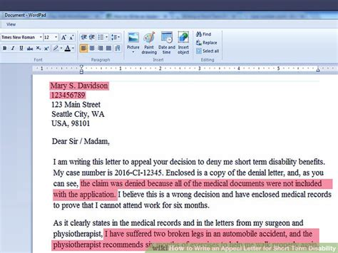 How to Write an Appeal Letter for Short Term Disability