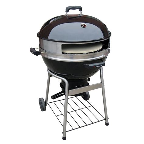 barbecue landmann landmann 23 in dia pizza kettle charcoal grill 525110 the home depot