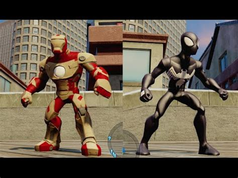 disney infinity spider man iron man mode