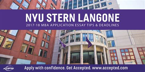 Nyu Mba Program Deadlines by Nyu Langone Pt Mba Application Essay Tips Accepted