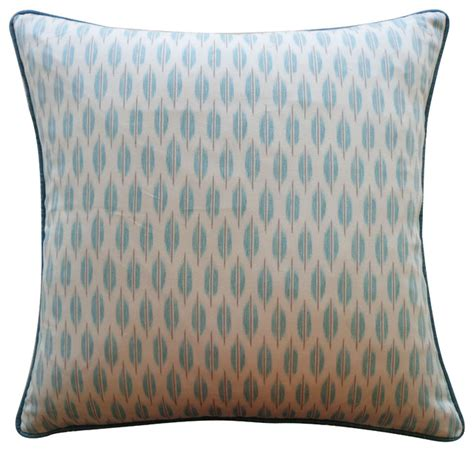 Light Pillows by Tmd Light Aqua Taupe Patterned Pillow Decorative