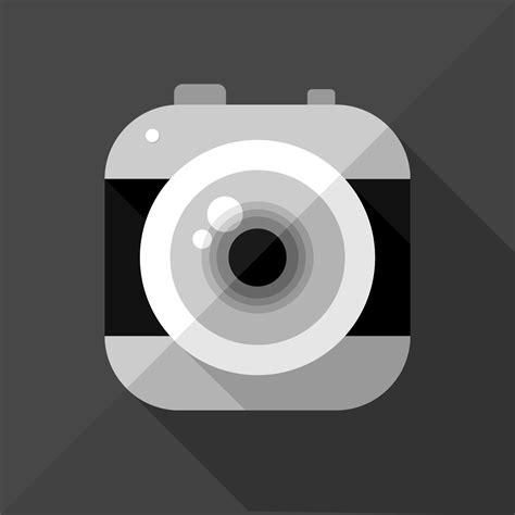 vector    flat camera icon vector