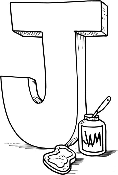 Letter J Drawing by Letter J Coloring Pages To And Print For Free