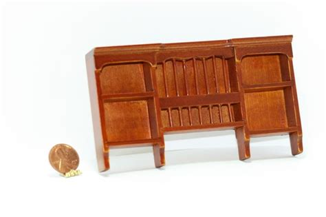 dollhouse wall shelf cherry wood plate rack wall shelf dollhouses and more