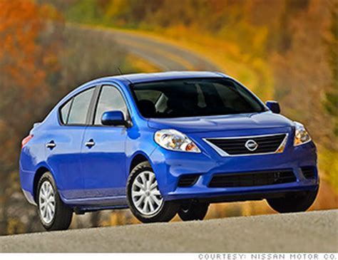 cheap nissan cars nissan versa 10 cheapest cars in america cnnmoney