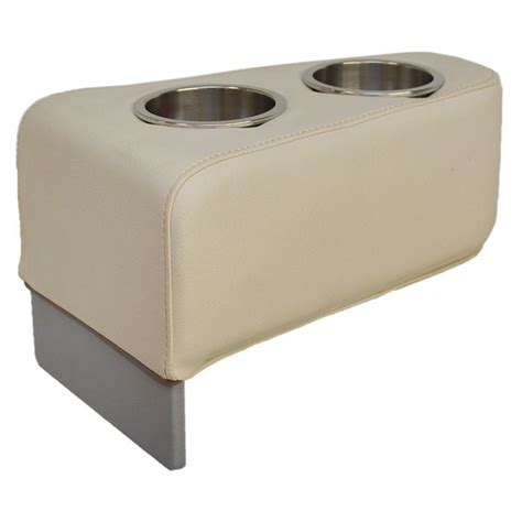 boat seat cup holders godfrey marine 281513 oem beige vinyl removable pontoon