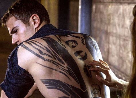 theo james divergent tattoo new clip theo talks divergent back theo