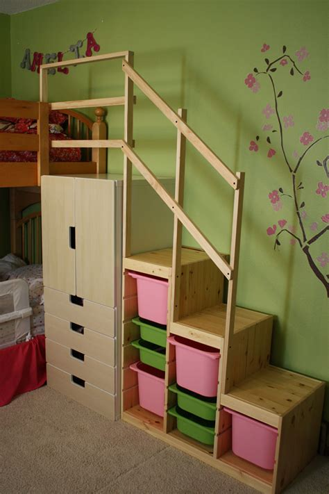 Bunk Beds With Stair Easy Height Bunk Bed Stairs Ikea Hackers Ikea Hackers