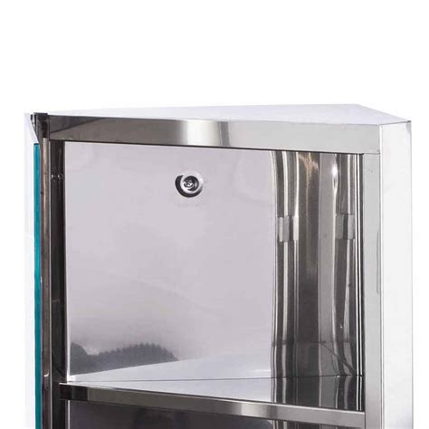 600x300mm luxury stainless steel bathroom corner cabinet