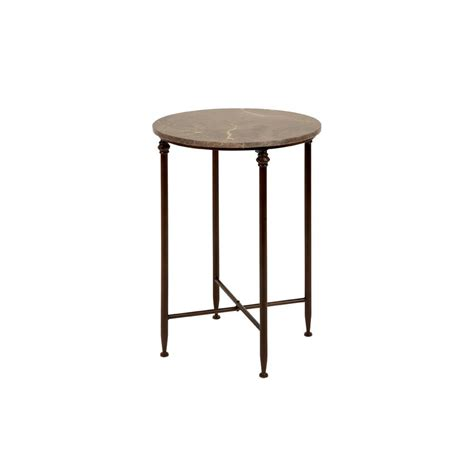 round black accent table beige marble round accent table with black iron legs 53804