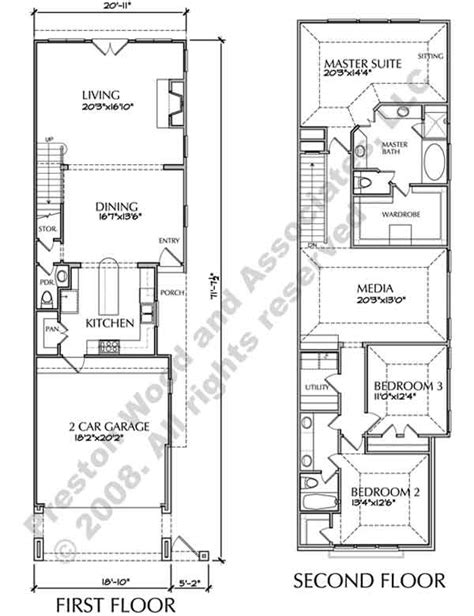 narrow townhouse floor plans oscommerce
