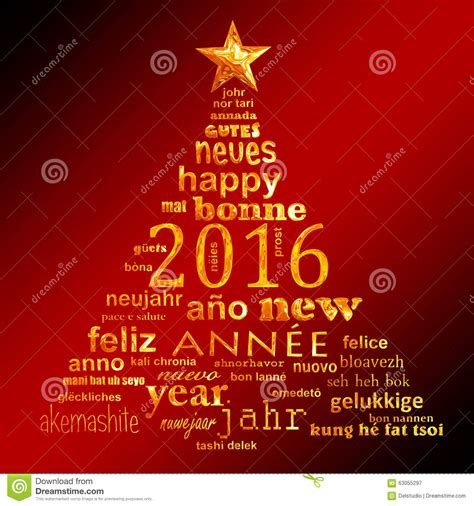 new year greeting word in 2016 new year multilingual text word cloud greeting card