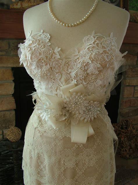Etsy Handmade Wedding Dress - items similar to wedding bustier custom dress with any
