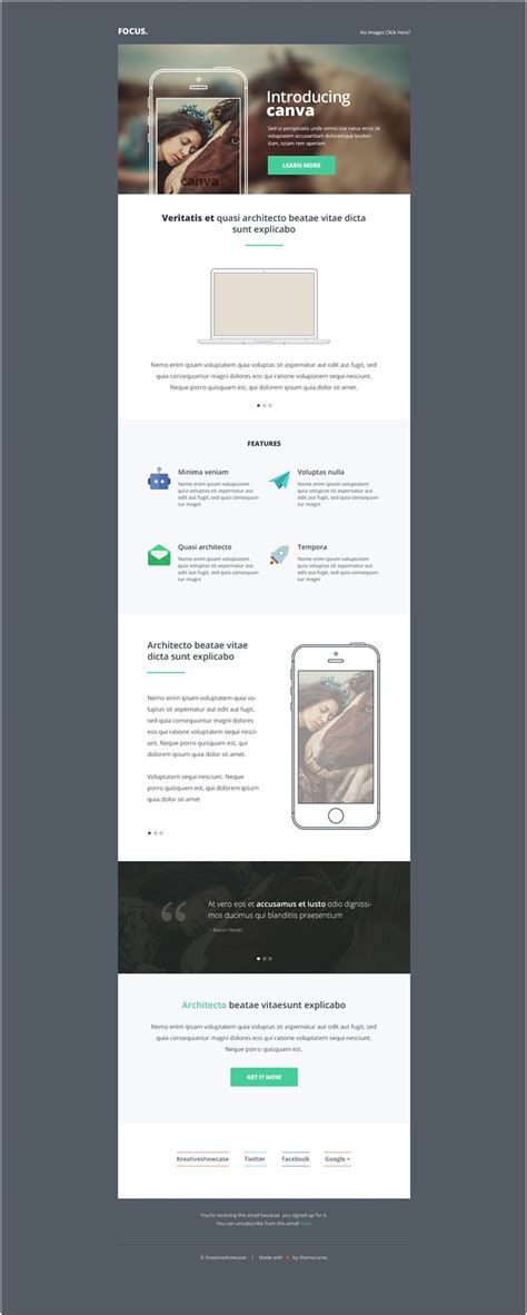 Canva Multipurpose Newsletter Email Psd Template E Mails Pinterest Free Email Newsletter Canva Website Template