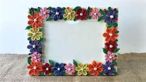 How To Make A Picture Frame Out Of Paper - how to create a colorful floral photo frame diy crafts