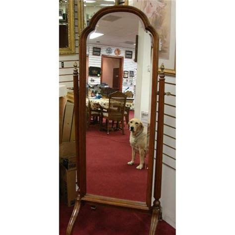 ethan allen cheval mirror cherry