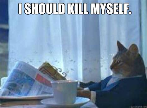 Cat Meme I Should Buy A Boat - i should kill myself i should probably kill myself i