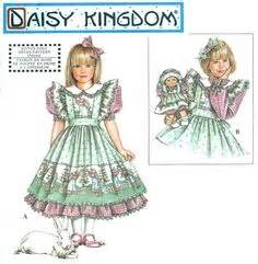 daisy kingdom pattern 3940 holly hobbie dress pinafore sewing pattern costume