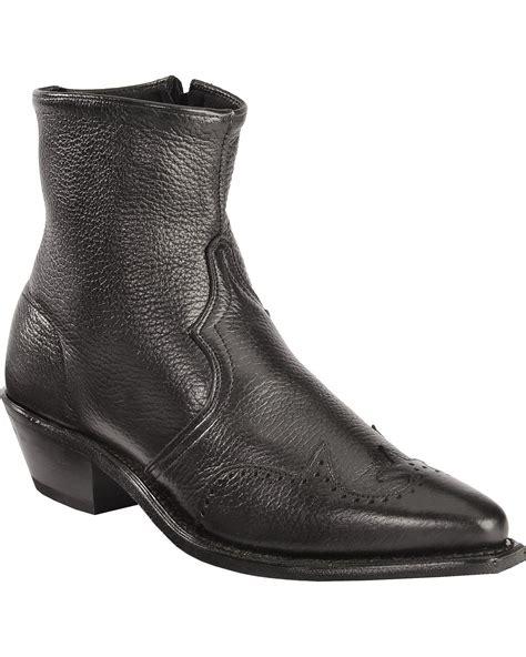 zipper boots abilene s western wingtip zipper boot 6445s ebay