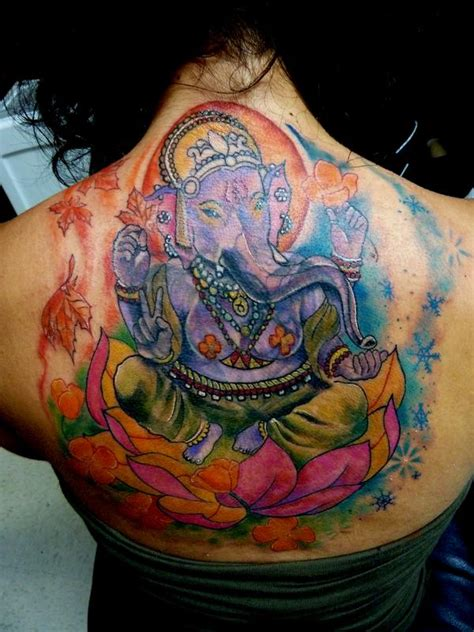 tattoo ganesha full back 28 ganesha on lotus tattoo