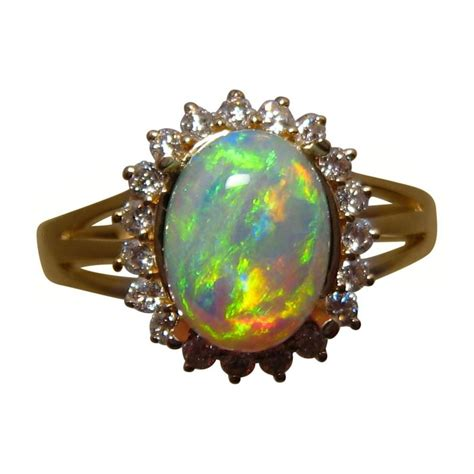Opel Ring by Gem Opal Ring 14k Gold Opal Rings