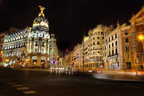 fondos de pantalla espana casa madrid calle noche ciudades descargar imagenes