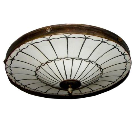 Light Fixture Sets Set Of Eight Leaded Glass Pendant Light Fixtures For Sale