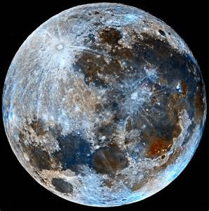 what color is the moon quot blue quot moon faux color of moon aug 2015