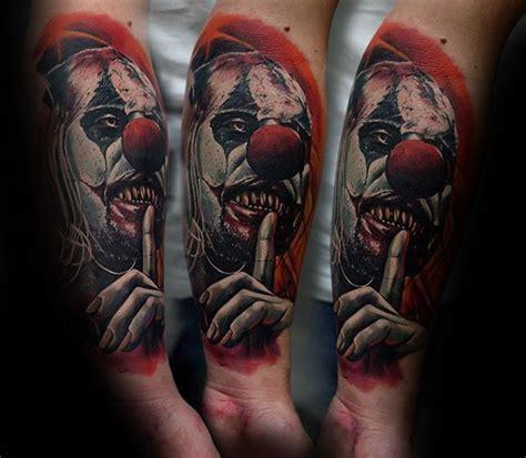 clown tattoos for men 75 clown tattoos for comic performer design ideas