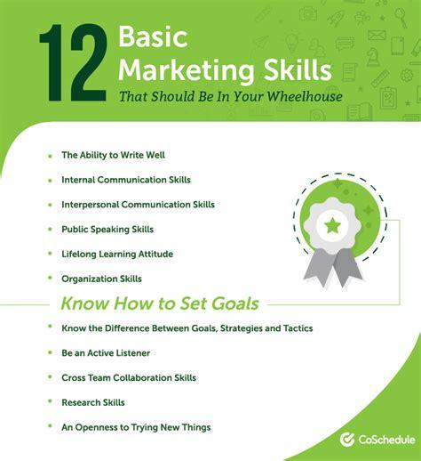 Marketing Resume Skills by Marketing Skills For Resume Talktomartyb