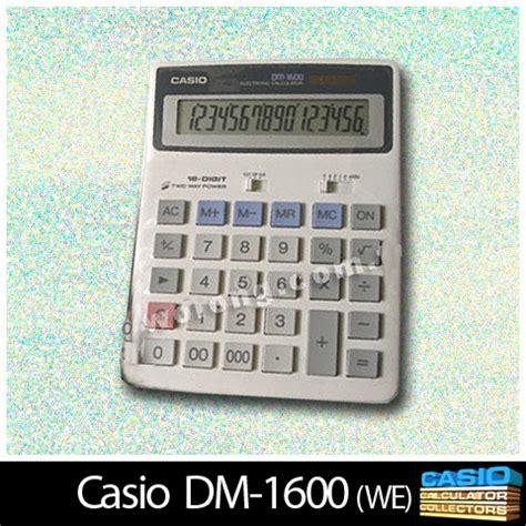 Kalkulator Casio Dm 1600s Calculator www casio calculator casio 001